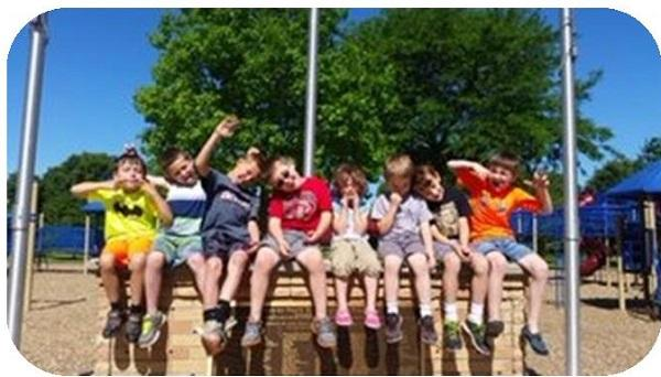 Playground group of kids
